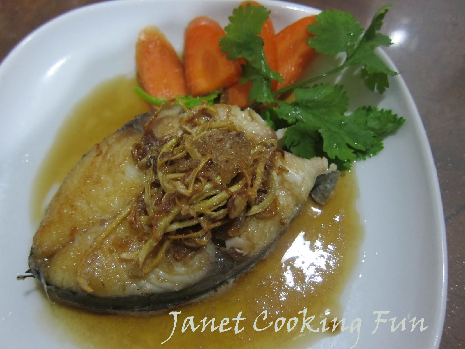 Janet wooi 39 s blog fish recipe ginger fish in sesame oil for Ginger fish recipe