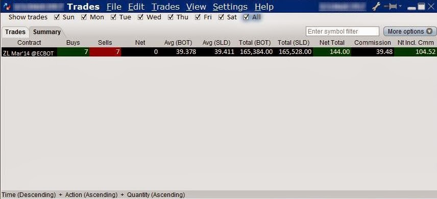 Trading system on excel