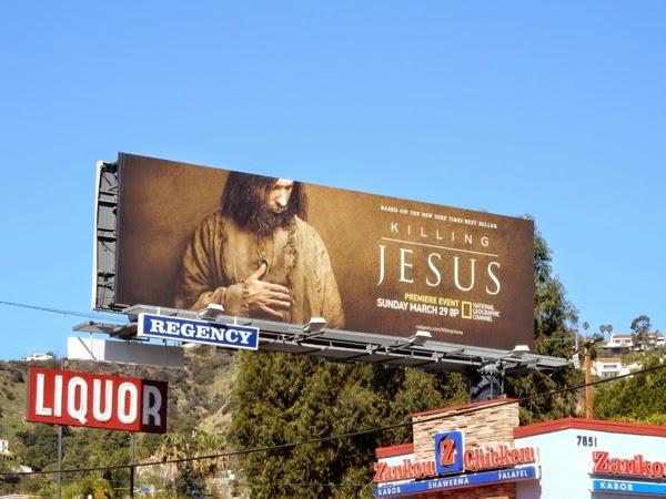 Killing Jesus TV movie billboard