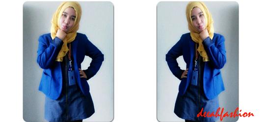 Tips Baju Muslim Kantor BlazerChic