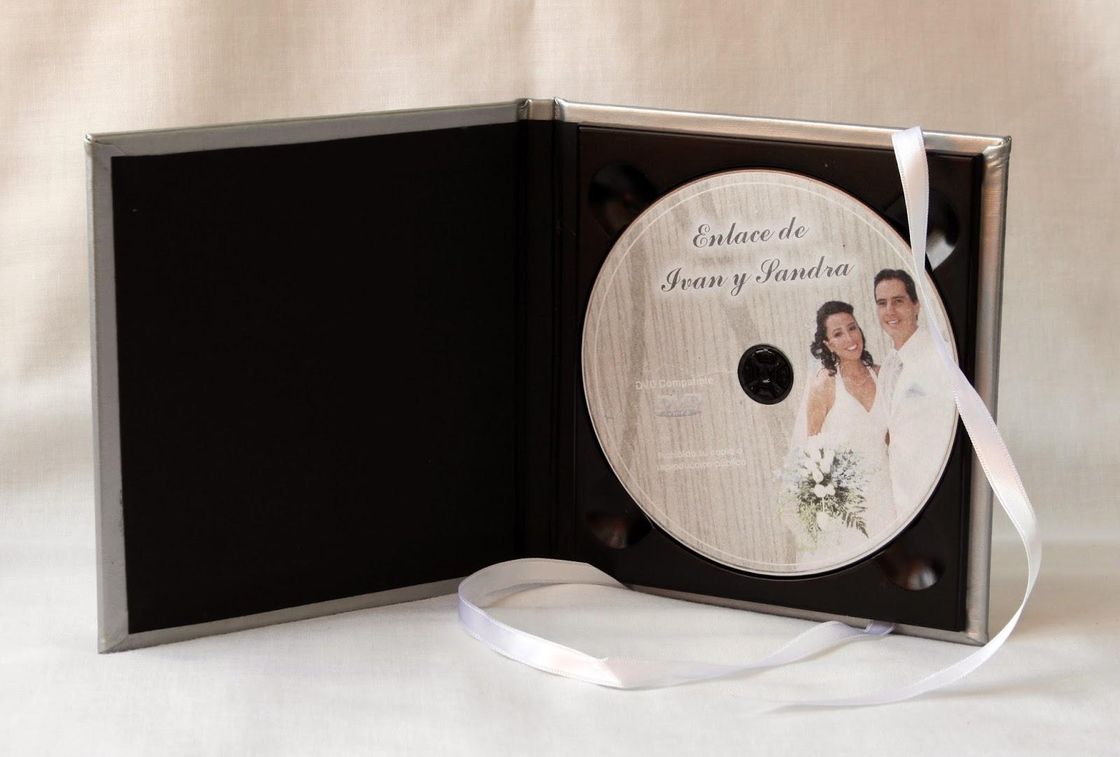 Estuche para DVD SPiel Blanco abierto