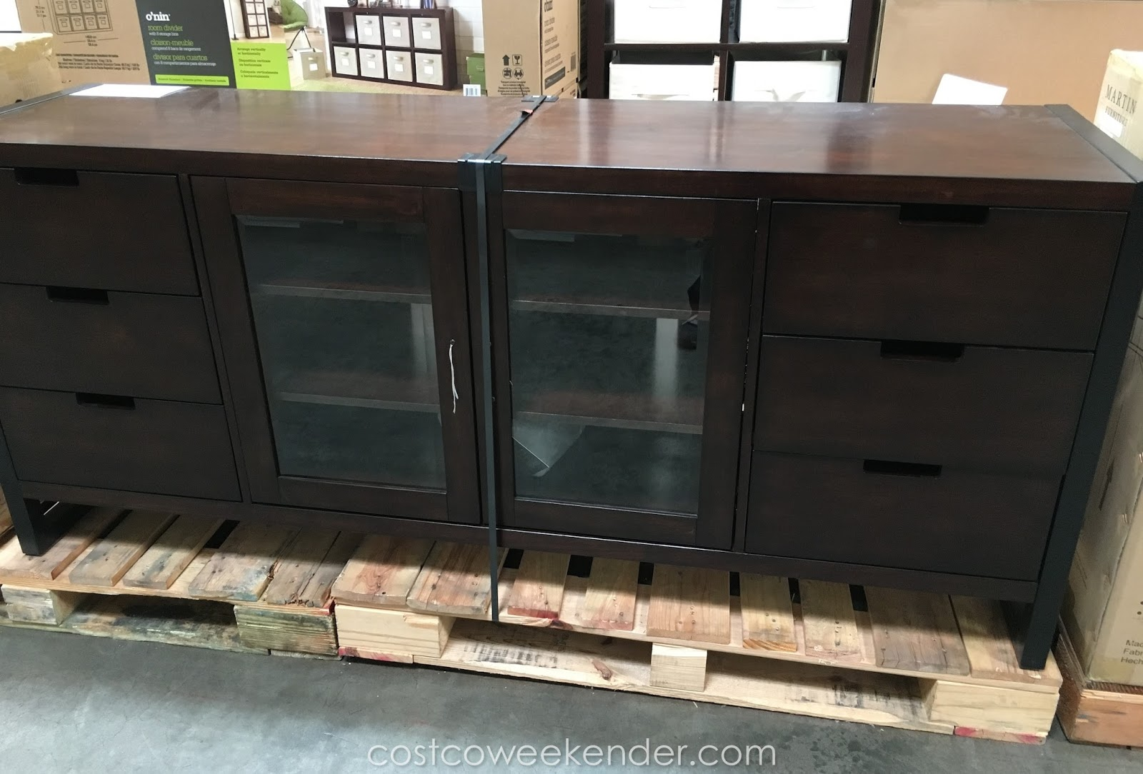 martin furniture television console costco weekender. Black Bedroom Furniture Sets. Home Design Ideas