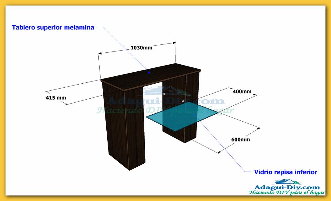 Mueble recibidor de melamina hall furniture diy adagui - Hacer un mueble a medida ...