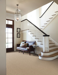 An entryway floor is welcoming and practical.