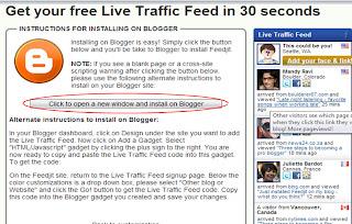 adding fedjit widget to blogger
