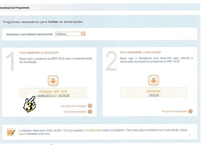 3 - BAIXANDO O PROGRAMA DO IMPOSTO DE RENDA 2012 (PESSOA FÍSICA)