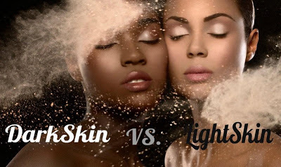 dark skin vs light skin image