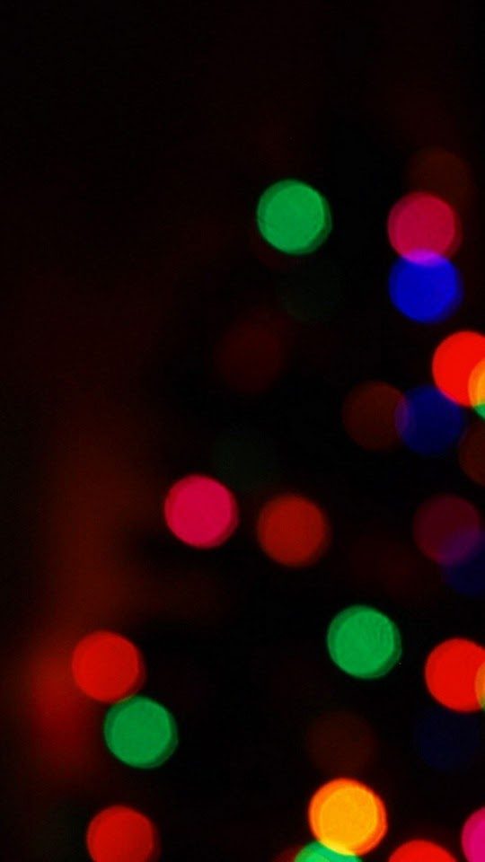 Christmas Tree Bokeh Lights  Galaxy Note HD Wallpaper