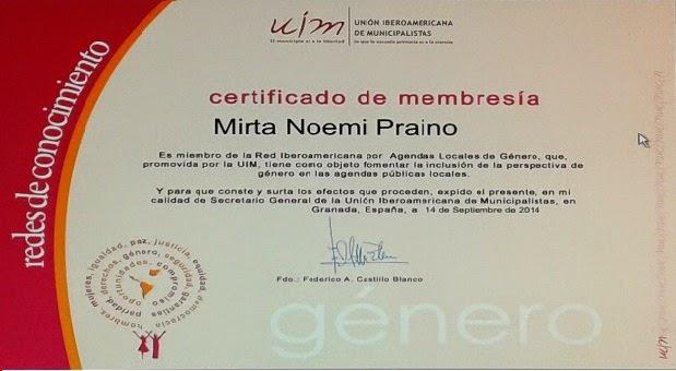 Union Iberoamericana de Municipalistas- Membresia 2014