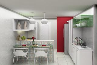 como fazer para decorar uma cozinha pequena