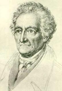 Dibujo de Wolfgang Goethe