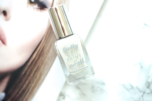 Barry M Gelly Hi-Shine Nail Paint in Coconut White