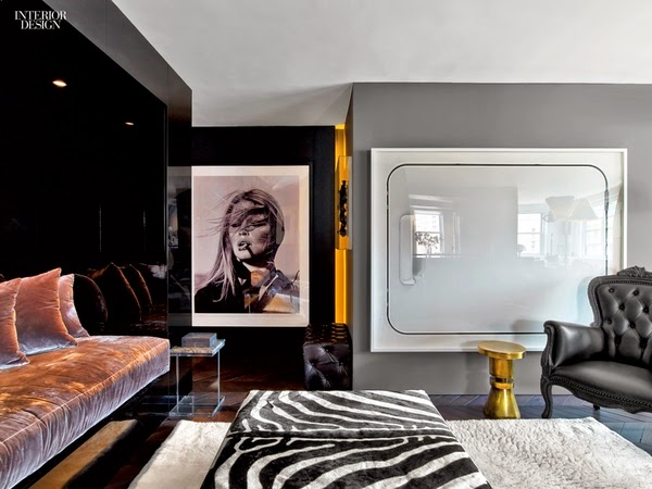 apartamento decorado en tonos grises suelo madera roble recuperada foto brigitte bardot