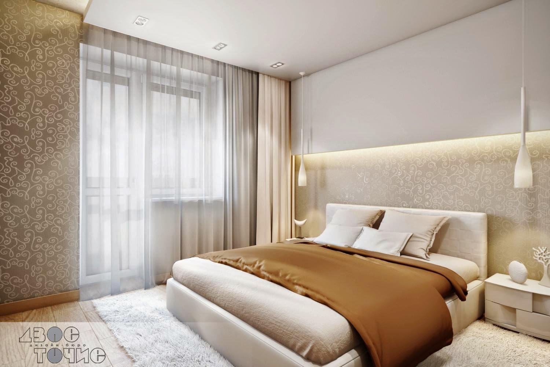 Светлая спокойная спальня