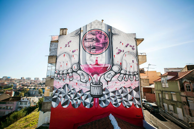 Second Street Art Mural By How Nosm For Underdogs 10 On The Streets Of Lisbon, Portugal 1