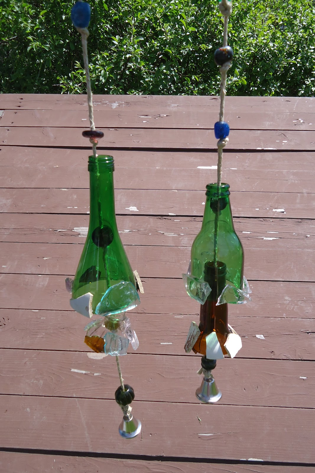 Wind chimes and vases upcycle your glass bottles for How to cut a bottle to make a glass