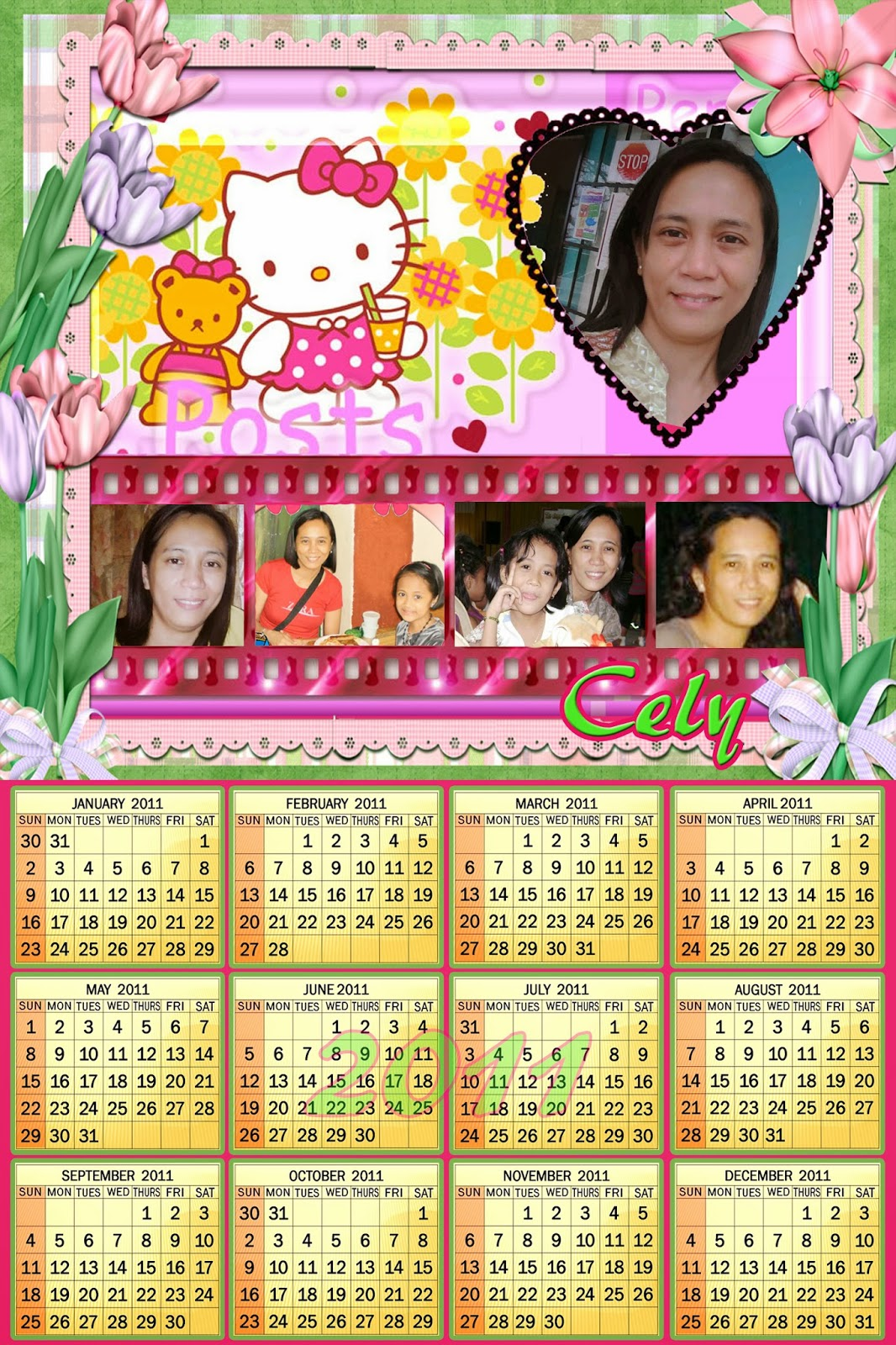 pinktinyshop personalized calendar