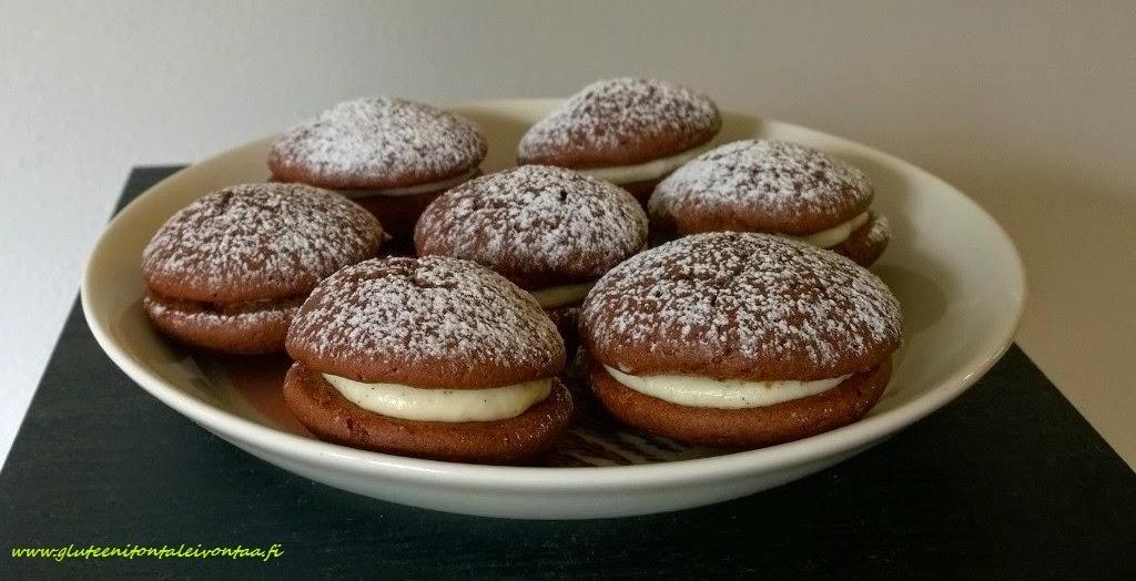 Gluteenittomat whoopie-leivokset