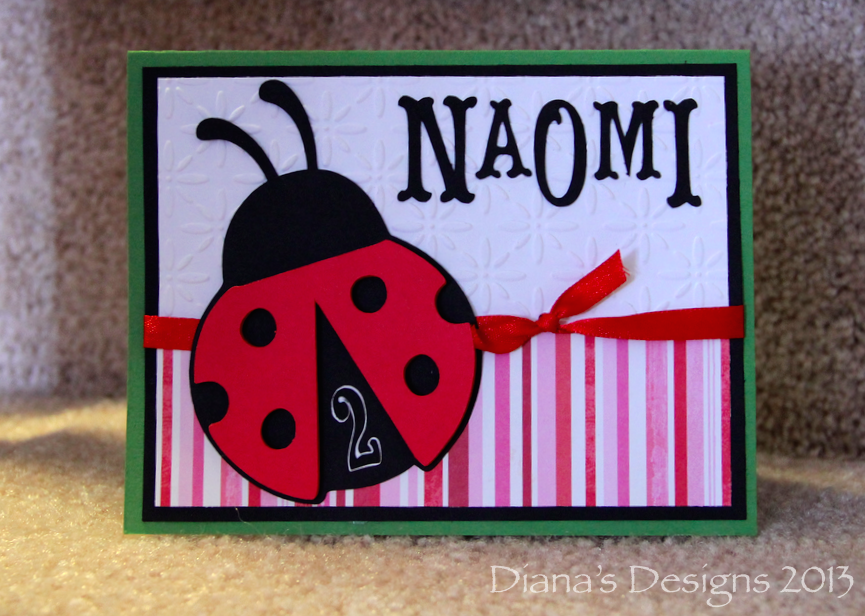 Cricut Doodlecharms Ladybug Birthday Card
