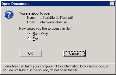 pdf file exists and is opened