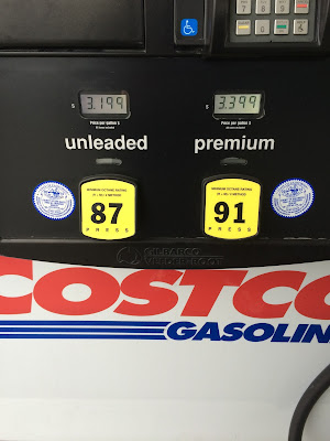 Costco gas for Mar. 10, 2015 at Redwood City, CA