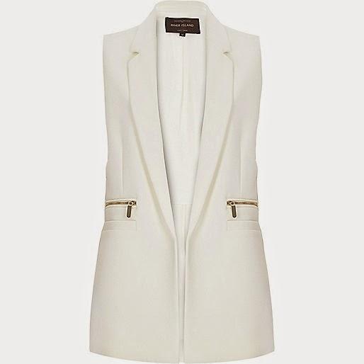 white sleeveless tuxedo