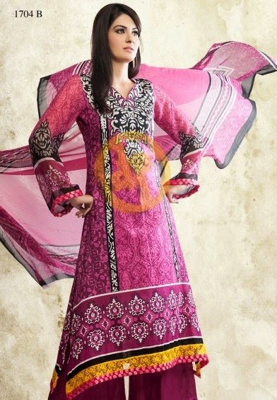 DawoodLawnsCollection2014 wwwfashionhuntworldblogspotcom 05 - Dawood Textiles Zam Zam Chiffon Lawn Collection 2014