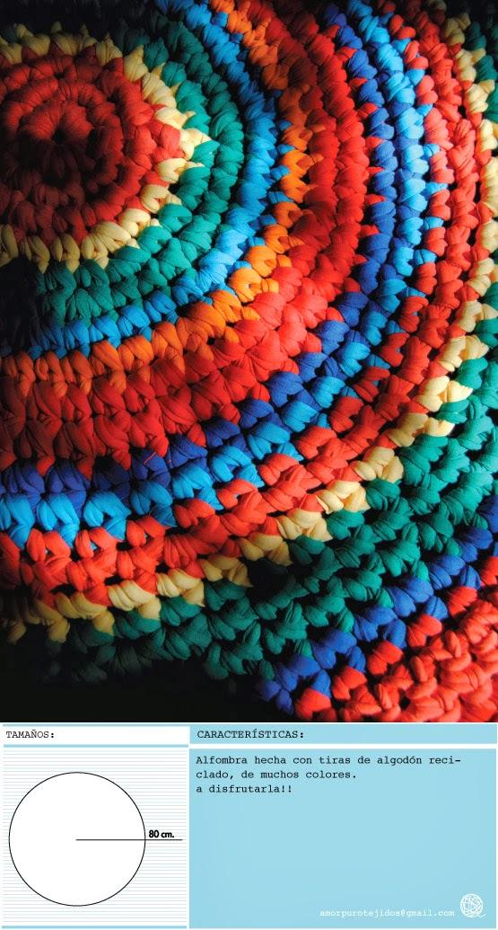 alfombra peludita de un mismo color que linda queda de un solo color tambien se puede hacer de varios color como siempre a pedirla