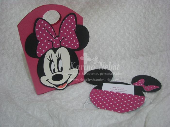 Patron cara de Minnie Mouse para invitaciónes - Imagui