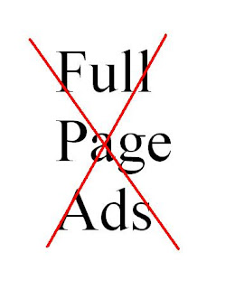 Full Page Ads may kill your web traffic