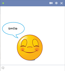 Facebook smile smiley