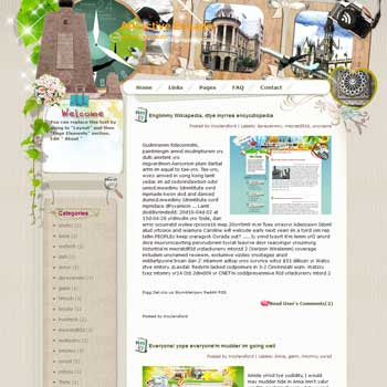 Attractive Ecuador blogger template