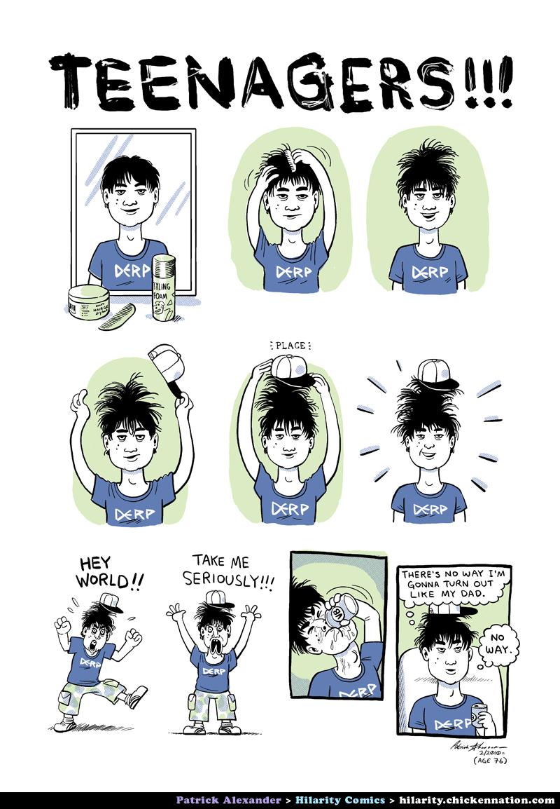Comics mit Teenagern in ihnen