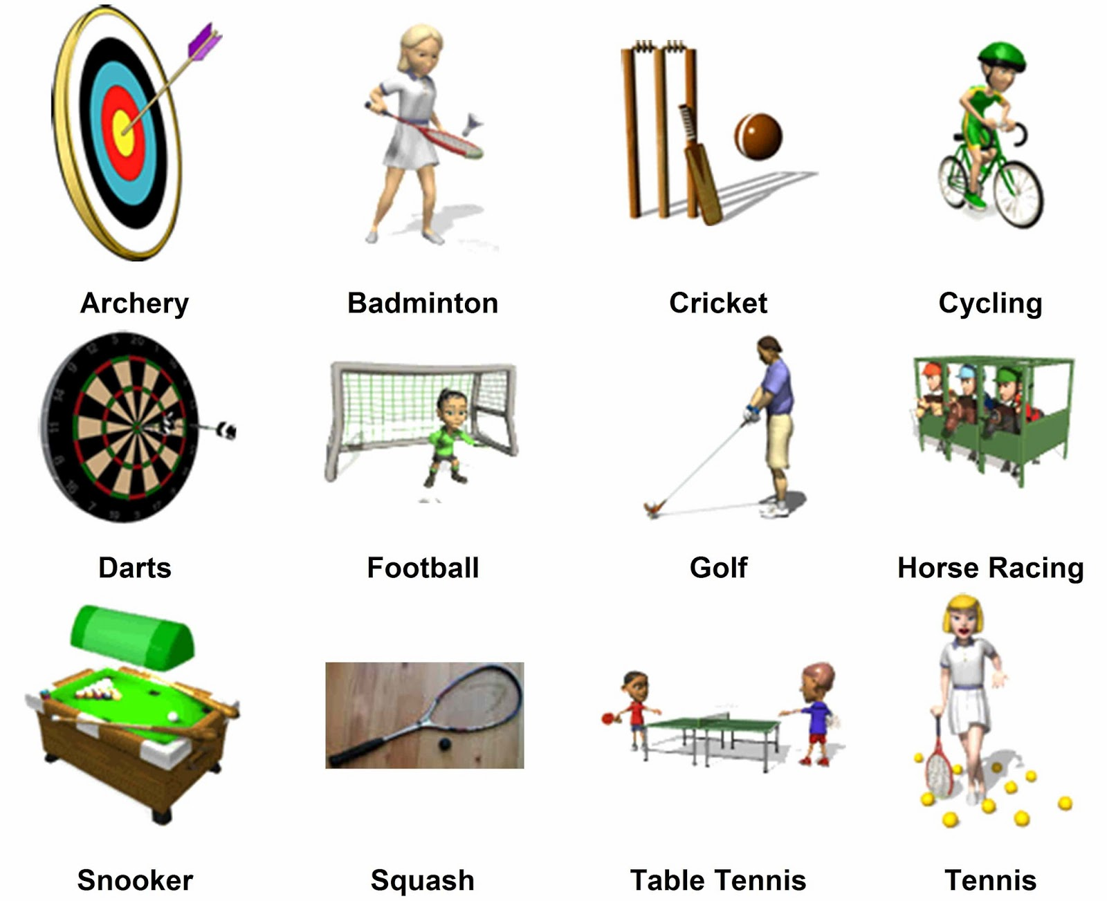 Hispania educaci 243 n y comunicaci 243 n useful vocabulary list of sports