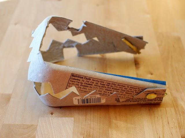 egg carton shark/alligator/dinosaur teeth- fun kids craft!