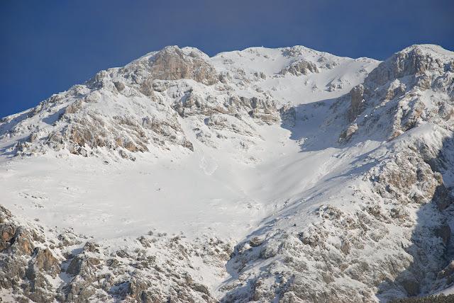 Monte Velino versante sud: il Canalone