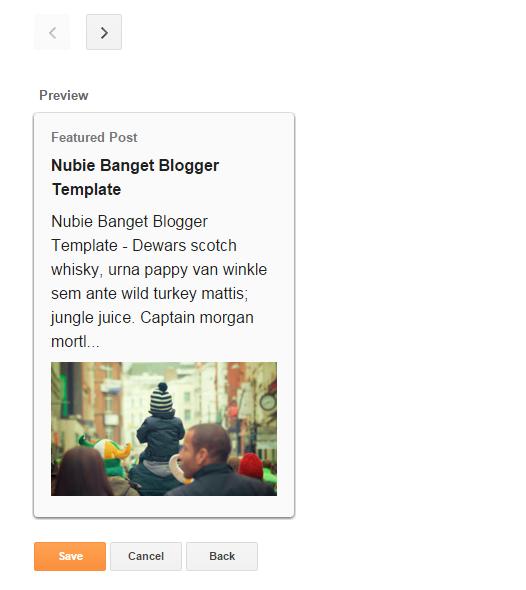 Preview Widget Entri yang Diunggulkan atau Featured Post