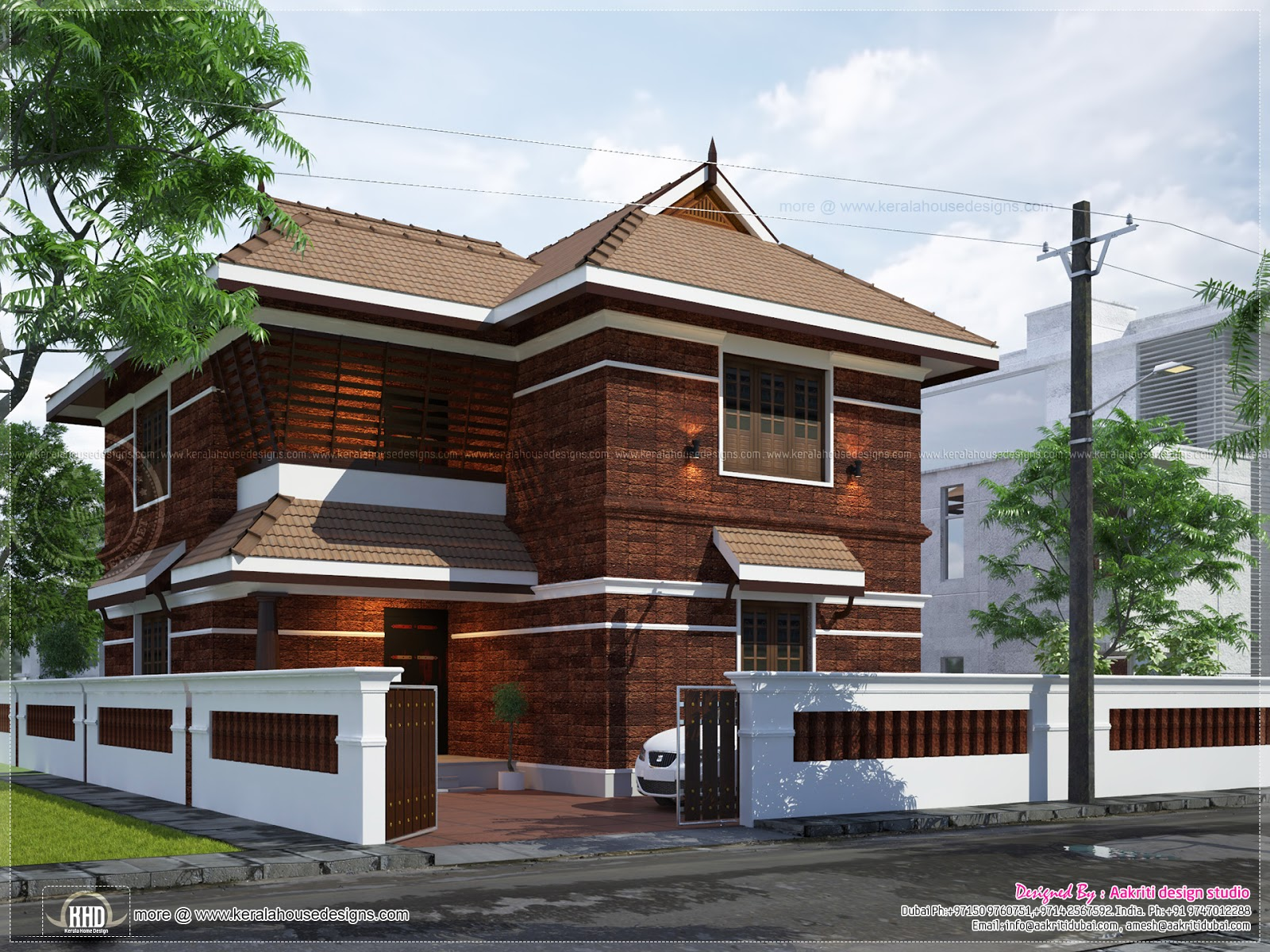 Awesome kerala style laterite house design kerala home House deaigns