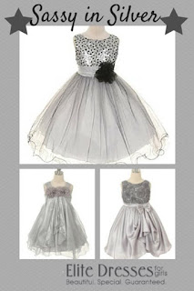 Sassy in Silver Girls Dress Collage
