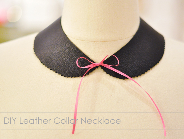 DIY gifts, leather collar necklace