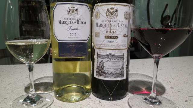 Wine labels of Marqués de Riscal wines