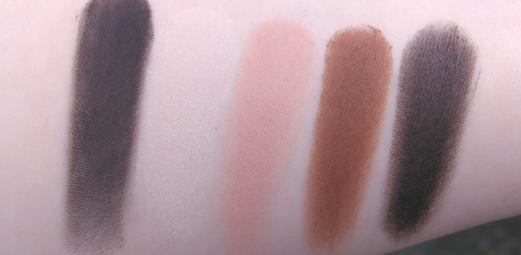 Too Faced Semi Sweet Chocolate bar palette swatch review pudrijera
