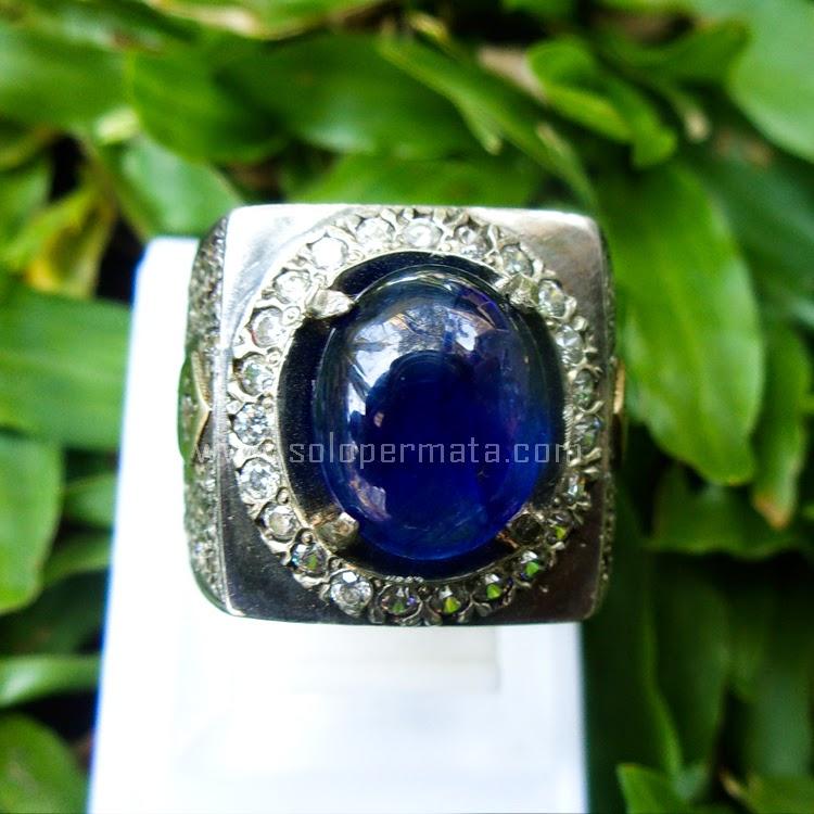 Cincin Batu Permata Blue Sapphire - Sp611