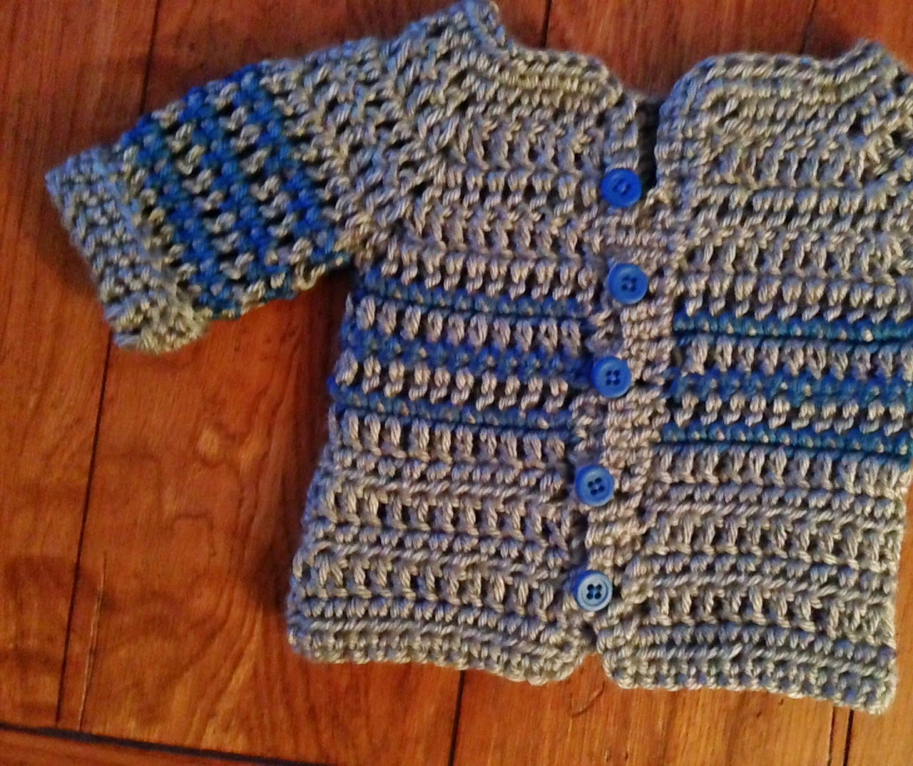 Easy Crochet Baby Sweater Pattern Free : Craft Brag: Crochet Baby Boy Sweater Pattern - Free