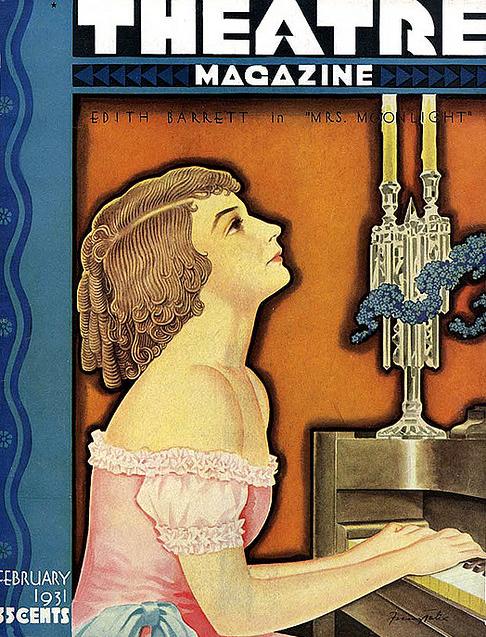 theatre magazine cover barrett