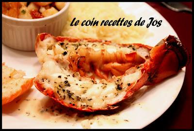 Le coin recettes de jos queues de homard grill es au - Recette queue de langouste grillee au barbecue ...