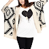 In Less Than Rs.1000 - Romwe Black and Off-White Aztec Print Cardigan