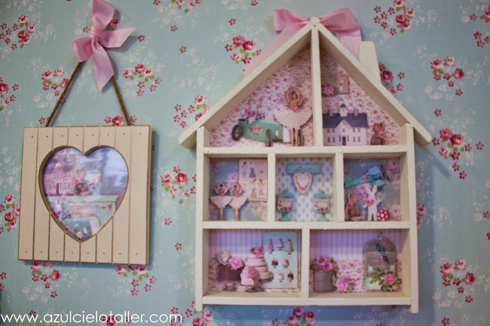 Azul cielo taller de artesania dar vida a las casitas de - Casitas pequenas de madera ...