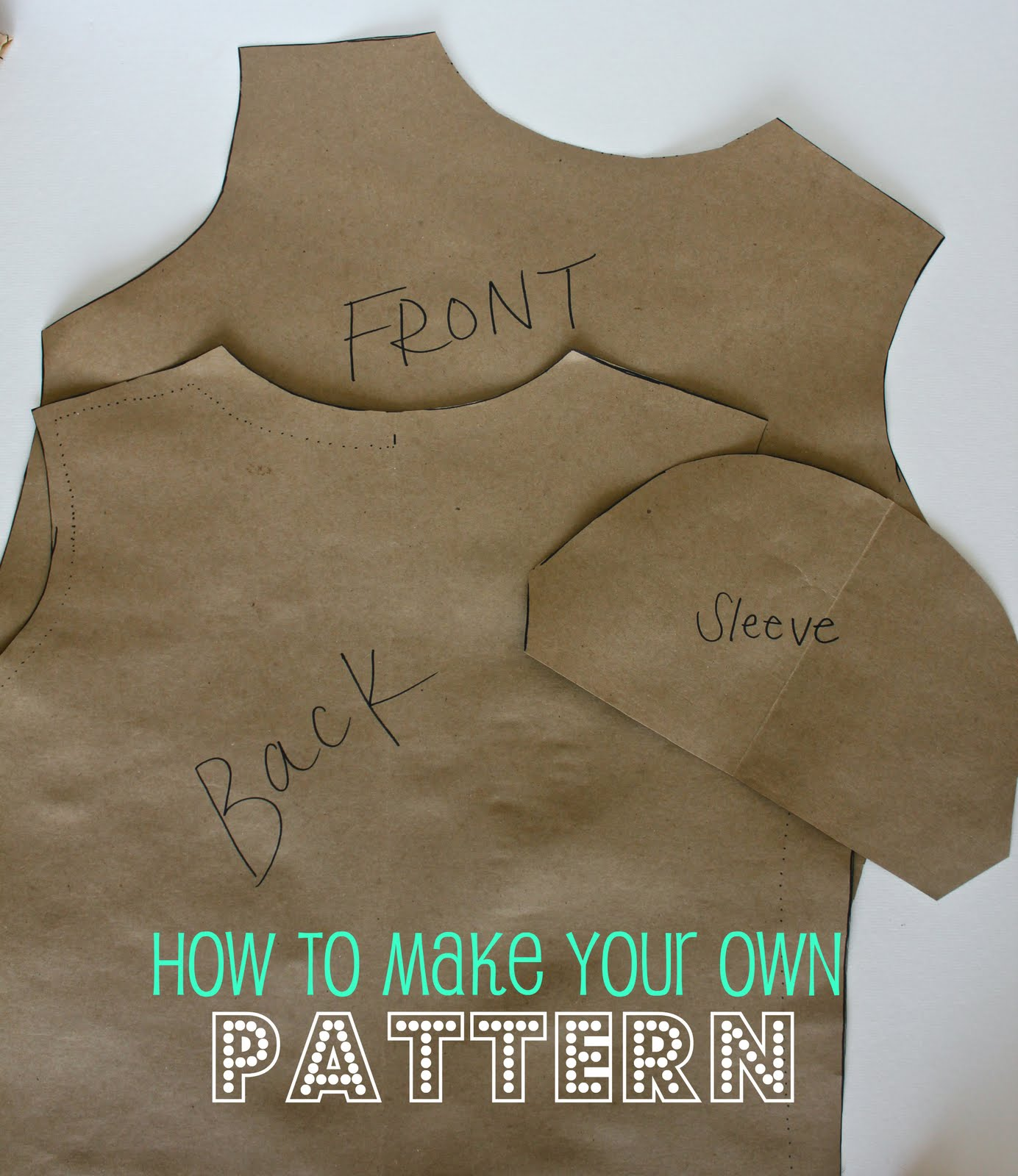 Making your own pattern a tutorial sweet verbena for Making a shirt from scratch