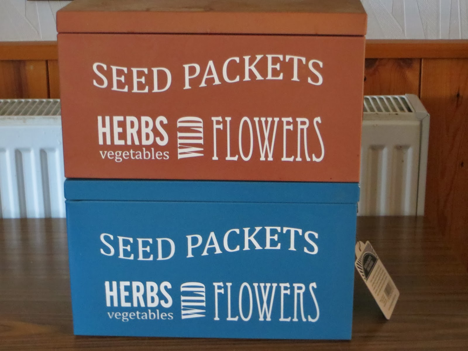 Seed storage boxes.